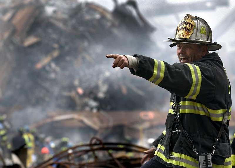 Junk hauling company Burbank fire damage image