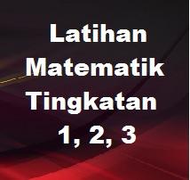 Soalan (Latihan) Ulang Kaji Matematik Tingkatan 2
