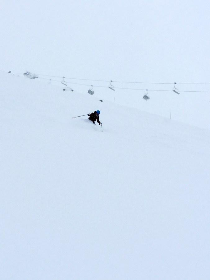 Sådär bra ljus, betydligt bättre snö. Foto: Angelika Andersson