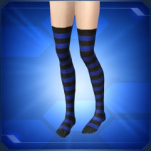 縞タイツ青Blue Striped Tights
