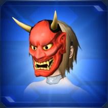 ハンニャのおめん 赤Hannya Mask Red