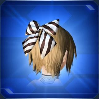 ホワイトストライプリボンWhite Stripe Ribbon