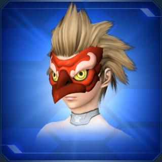 赤カラステングの面Red Crow Tengu Mask