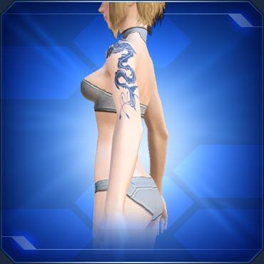 ショルダータトゥーF 青 Blue Shoulder Tattoo F