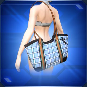 チェック柄トートバッグC Plaid Tote Bag C