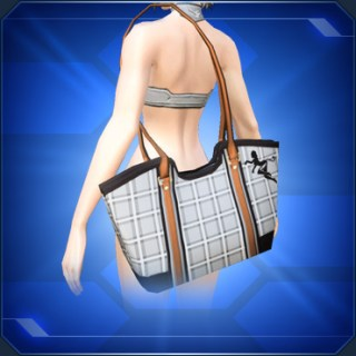チェック柄トートバッグD Plaid Tote Bag D