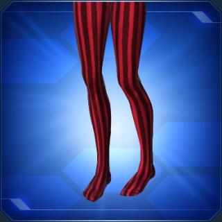 縦縞タイツ赤/黒 Red/Black Striped Tights