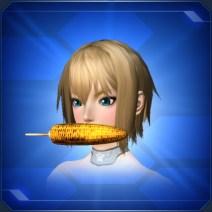 くわえ焼きモロコシ Bitten Roasted Corn