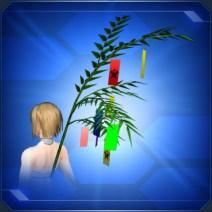 背負い七夕笹 Posterior Tanabata Bamboo