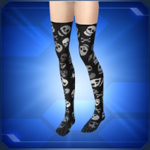ドクロニーソックス Skull Knee-High Socks