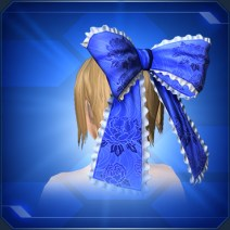 和柄フリルリボン 青 Blue JP Pattern Frill Ribbon