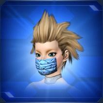 迷彩柄マスク 青 Blue Camouflage Mask