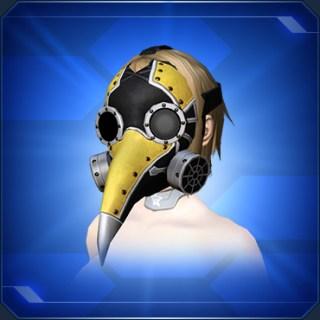 ロングノーズマスク 金 Gold Long Nose Mask