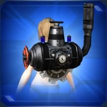 背負い蒸気機関 黒 Black Rear Steam Engine