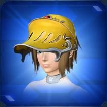 甲冑バイザー 金 Armored Visor Gold