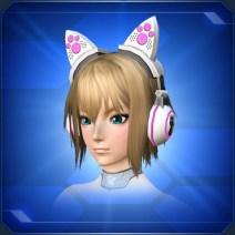 ネコミミヘッドフォン 白Cat Ear Headphones White