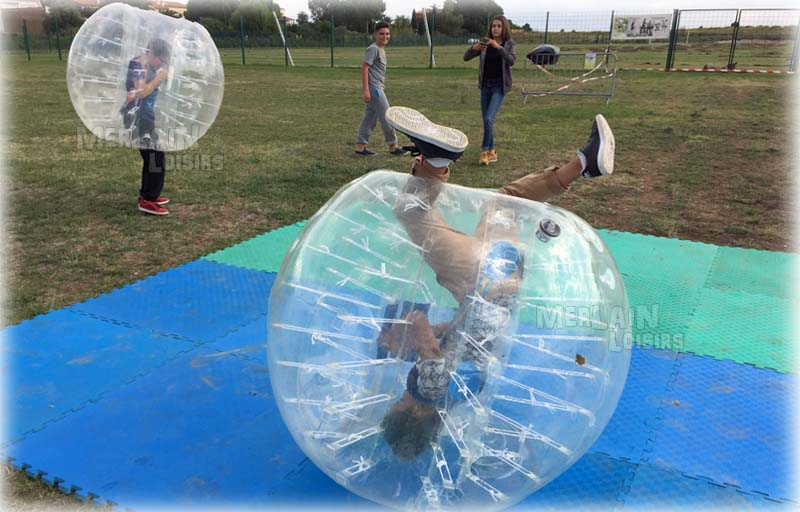 activités bumperball freestyle arène bubble foot