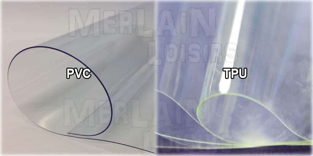 PVC vs TPU comparaison couleur transparent