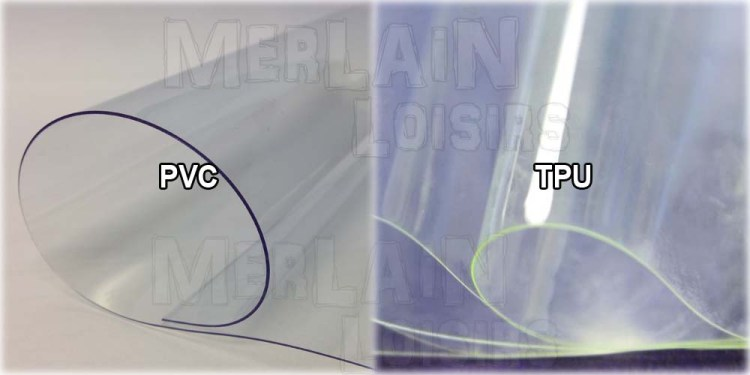 PVC vs TPU comparaison couleur transparent