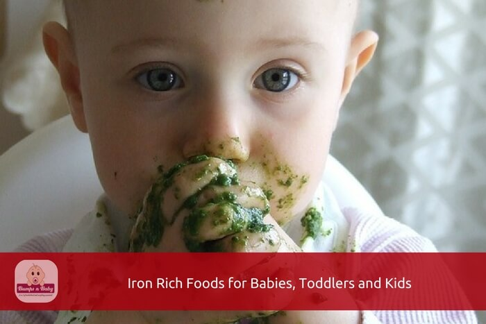 iron rich foods for babies, toddlers and kids