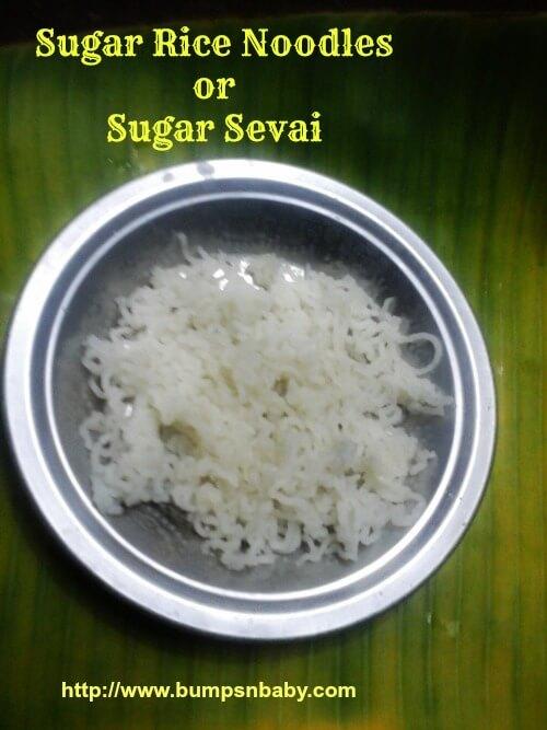 sugar rice noodles