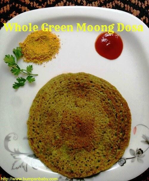 whole green moong dosa recipe