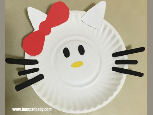paper plate craft hello kitty activity & 4 Paper Plate Craft Ideas You Can Do With Your Preschooler