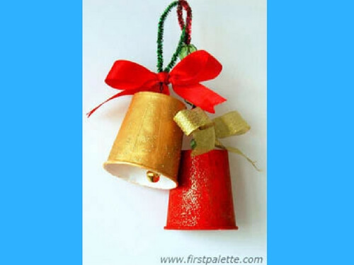 Christmas crafts for kids DIY paper cup bell