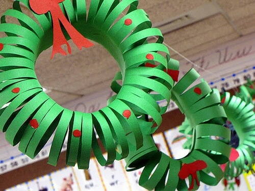 Christmas crafts for kids easy wreath