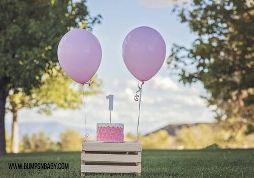 first birthday party menu cake