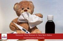monsoon illness in new born babies