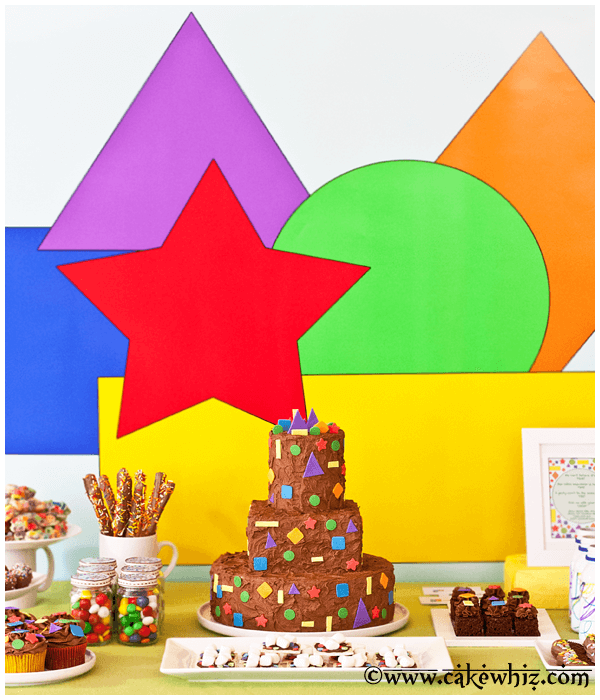 shapes birthday party themes for girls