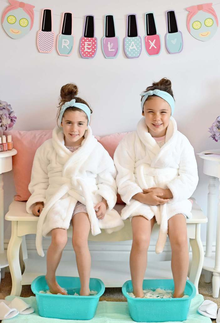 foot spa themed birthday party themes for girls