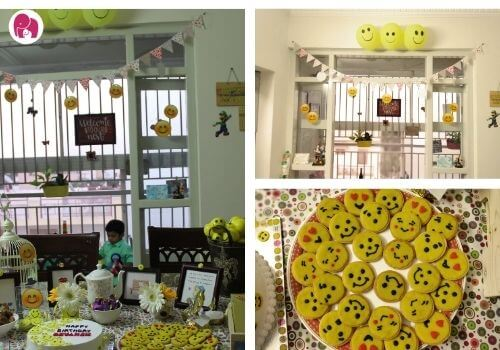 First Birthday Themes for Boys smiley