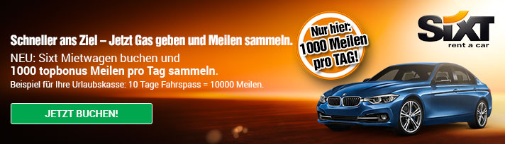 1.000 Air Berlin Meilen pro Tag | Sixt