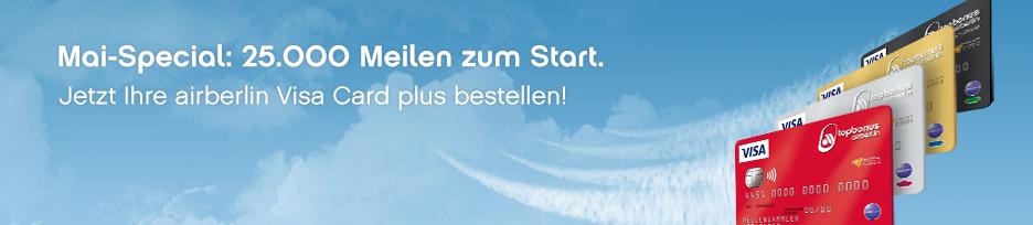 Wir bestellen eine Kreditkarte | Edition Air Berlin