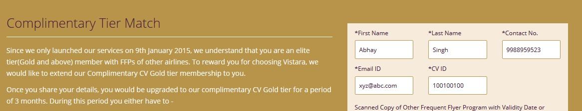 Status Match   Edition Vistara #2
