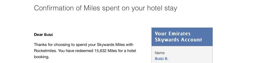emirates skywards ek Wie habe ich in einem Hotel kostenlos übernachtet?