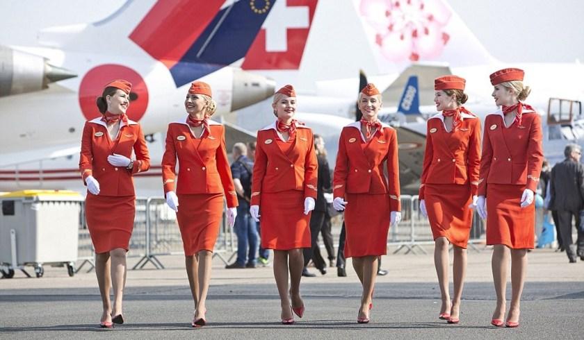airline uniform aeroflot