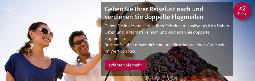 Doppelte Miles & More Meilen bei Mövenpick Hotels