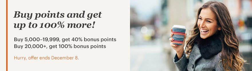 IHG Rewards Club Punkte mit bis zu 100% Bonus kaufen