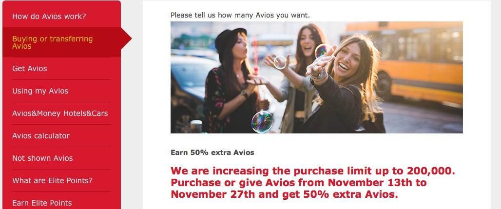 Iberia Avios Sale: 50% Bonus