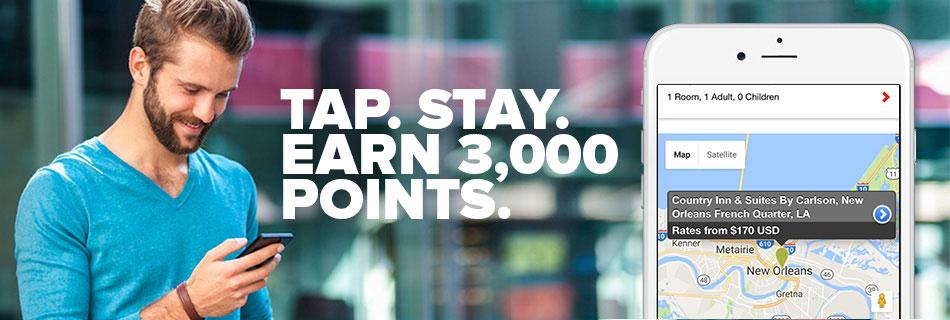 Club Carlson: 3000 Punkte bei Buchung per App