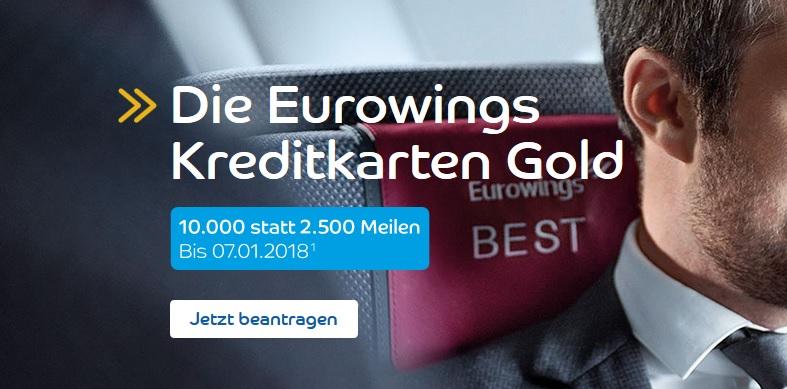 Eurowings: Freiflug Europa + Kreditkarte – kostenfrei