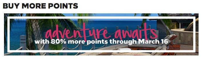Erinnerung: Hilton Honors: Punkte mit 80 % Bonus kaufen