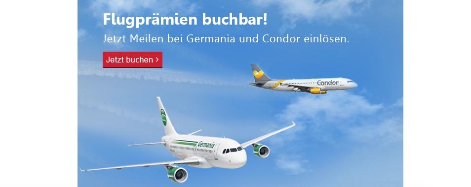 topbonus: Bis heute Meilen für Condor BUSINESS CLASS einlösen!