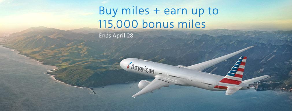 American Airlines AAdvantage Meilen mit 115.000 Bonusmeilen kaufen!