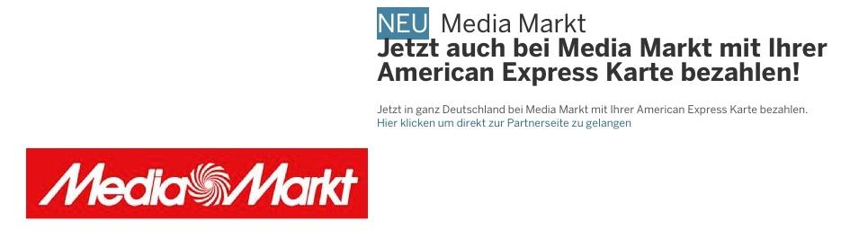AmEx: 30 Euro Gutschrift bei Media Markt Einkäufen american express mediamarkt