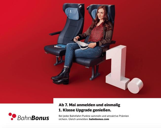 DB Deutsche Bahn: 1. Klasse Upgrade - kostenfrei! BahnBonus bahn.bonus bonus-programm