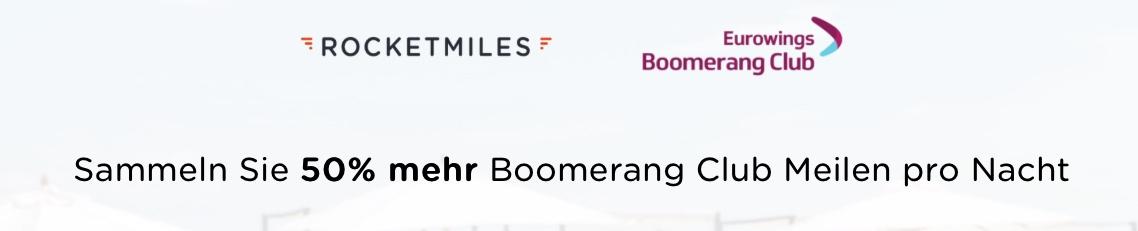 Boomerang Club (Eurowings): 15000 Meilen mit Rocketmiles